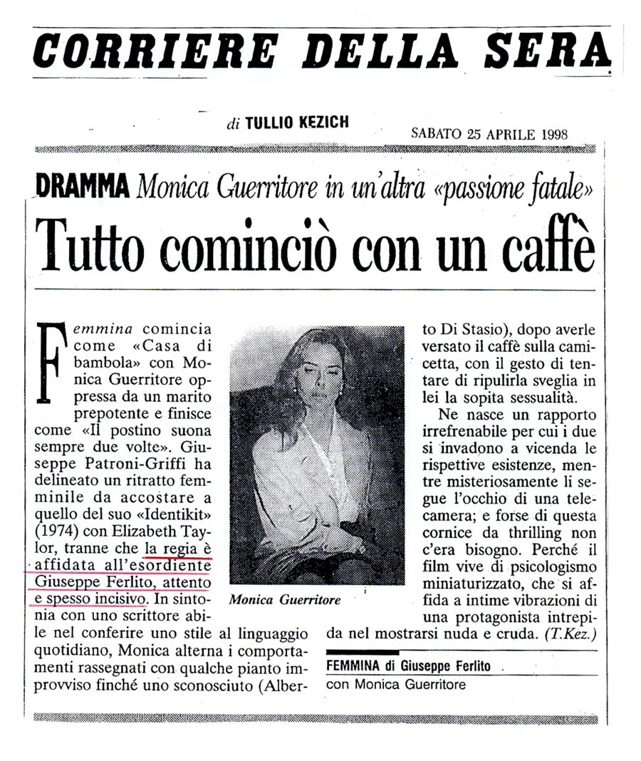 Riprese femmina for Corriere della sera arredamento
